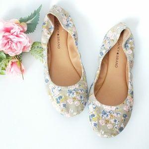 Lucky Brand Floral Fabric Ballerina Flats 10